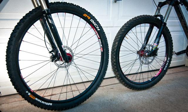29er vs 26 inch Mountain Bike