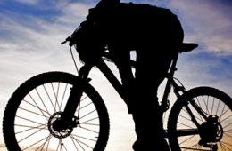 Mountain Biking at Sunset