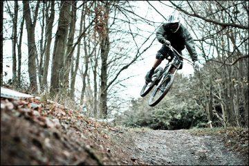 Cold Mountain Biking Downhill