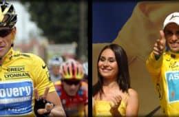 Alberto Contador and Lance Armstrong