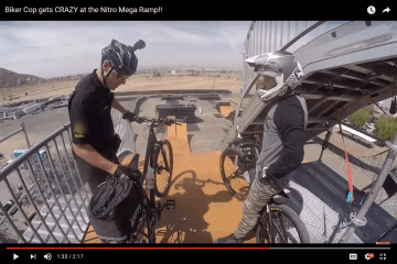 Bike Cop Mega Ramp
