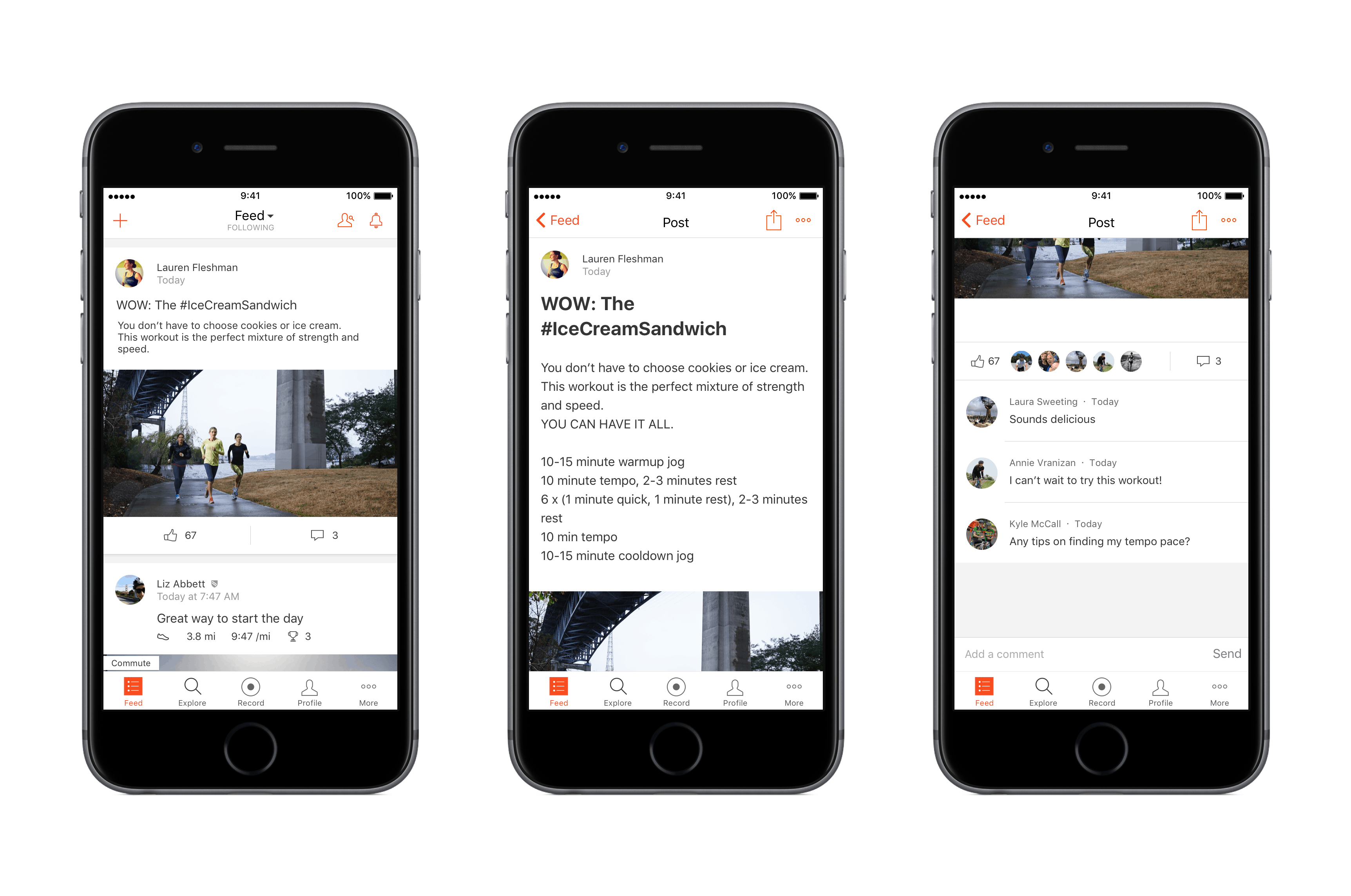 Strava Athlete Posts