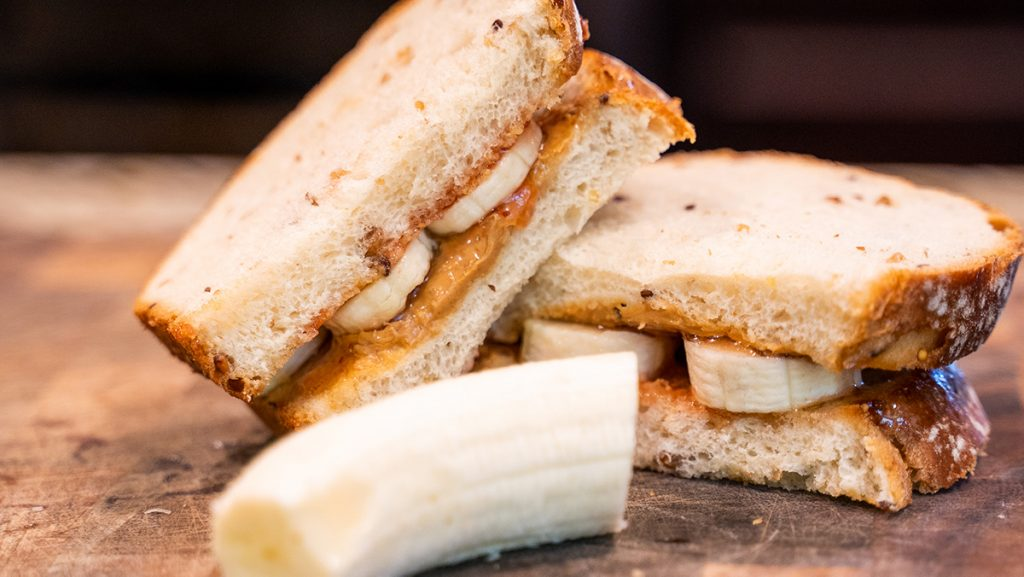 Peanut Butter and Honey Sandwich for Mountain Bikers
